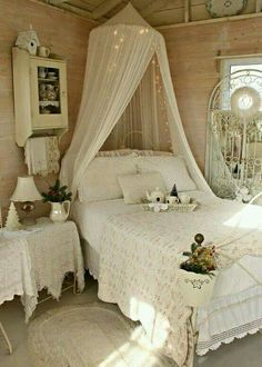 Shabby chic vintage bedroom