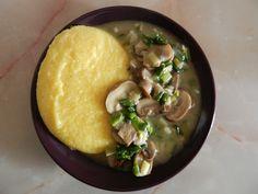 Ciulama de post cu ciuperci - o reteta rapida si usoara | Economisim.info Romanian Food, Hummus, Pudding, Vegan, Cooking, Ethnic Recipes, Desserts, Healty Meals, Inspired