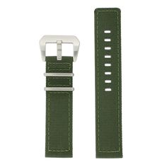 af16a8fbaf6 22mm XL Nylon Watch Band Military Army Green Sport Strap Stainless Extra  Heavy Buckle   Quickly