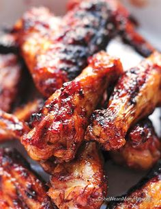 this looks sooo good && simple     Sweet and Spicy Chicken Wings Recipe on Yummly. @yummly #recipe