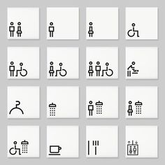signs incorporating the Lisbon range of pictograms by Marca Designs.Architectural signs incorporating the Lisbon range of pictograms by Marca Designs. Environmental Graphics, Environmental Design, Wc Icon, Toilet Icon, Wayfinding Signs, Sign System, Signage Design, Visual Communication, Navigation Design