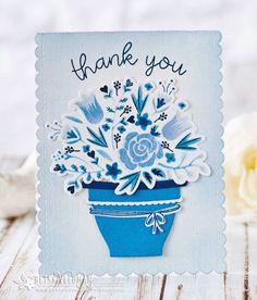 Thank You Card by Betsy Veldman for Papertrey Ink (March 2017)