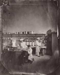 Kitchen of the Imperial Asylum for the feeble-minded, Paris. Charles Negre, about 1860