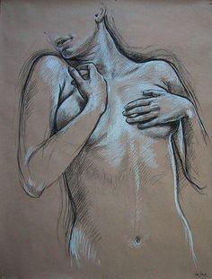 """Étude pour """"Narcisse"""" 2005 Crayon sur papier 123 x 93 cm Galerie Alain Blondel +"""