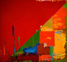 All time favourite John Hoyland - take that Hofmann Modern Art Paintings, Paintings I Love, Abstract Painters, Abstract Art, Painter Artist, Funky Art, Painting Collage, Abstract Expressionism, Artist At Work