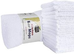 Utopia Towels Kitchen Bar Mop Cleaning Towels Pack, 16 x 19 Inch) - Pure Cotton White Kitchen Towels, Restaurant Cleaning Towels, Shop Towels and Rags - Professional Grade Restaurant Cleaning, Towel Organization, White Bar, Old T Shirts, Dish Towels, Kitchen Towels, Cool Kitchens, White Kitchens, Pure Products