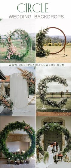 20 Wedding Moon Gates & Circle Wedding Backdrops Dreamy full moon shaped arches are the hottest floral trend for Floral moon gates make a pretty epic backdrop for your vows but can also double up as a Outdoor Wedding Backdrops, Wedding Backdrop Design, Wedding Ceremony Decorations, Decor Wedding, Circle Wedding Ceremonies, Floral Wedding, Wedding Flowers, Moon Wedding, Wedding Gate