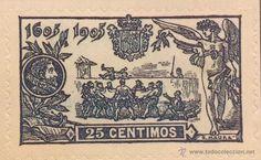 SPAIN ESPAÑA 25 CTS 1905 MANTEO DE SANCHO PANZA SELLO STAMP NUEVO