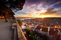 View from the Castle of São Jorge in Lisbon, Portugal Places Around The World, Oh The Places You'll Go, Great Places, Beautiful Places, Places To Visit, Around The Worlds, Beautiful Life, Amazing Places, Costa