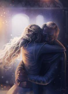 # Dany and Jorah after she lost Viserion Art by Sandra Winter Art Daenerys_Targaryen Jorah_Mormont Fan_art Arte Game Of Thrones, Game Of Thrones Artwork, Game Of Thrones Fans, Winter Is Here, Winter Is Coming, Ser Jorah Mormont, Game Of Trone, Kings & Queens, My Champion