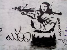 Mona Lisa with Bazooka by Banksy