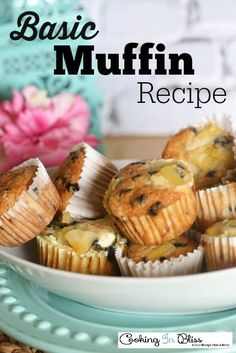 These are moist and delicious Basic Muffin Recipe that you can use as base for different muffin flavors that you like to make.