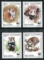 WWF - European Hamster Mint Set of 4 Stamps Bulgaria, 1994