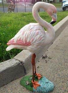 Lovely Flamingo Statues And Sculptures | 66cm Birds Flamingo Statues Sculptures  Garden Ornaments Home Decor .