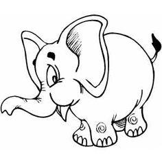 elefant ausmalbild - malvorlagen für kinder | elefant