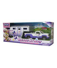 Horse Crazy Truck & Gooseneck Trailer by Breyer #zulily #zulilyfinds