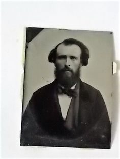 1860s Tintype James Harvey Brownell with Dates  | eBay