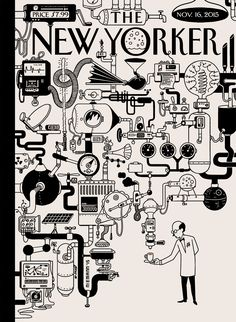 """The whole idea of a machine is outdated,"" Christoph Niemann says about ""Coffee Break,"" his cover for this week's issue. http://bit.ly/1j6yhed"