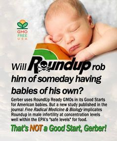 Anti GMO Foods and Fluoridated Water: Studies link Roundup Herbicide to male Infertility