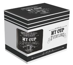 """Retro Chalk Board Collection """"My Cup Overflows"""" Verse Mug - Psalm 23:5 by Christian Art Gifts, http://www.amazon.com/dp/B00EA07L0S/ref=cm_sw_r_pi_dp_QrLrsb0E8Q3SZ"""