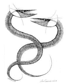 "joncarling: ""'serpents' Sketchbook Exhibit #178 """