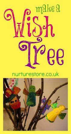Make a New Year Wish Tree - a lovely Christmas craft / new year craft for kids