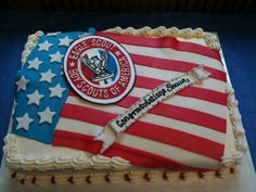 Very classy - - - not ridiculous like some others I've seen. . .eagle scout cake | Eagle Scout Cake - Sarah Makes Cakes