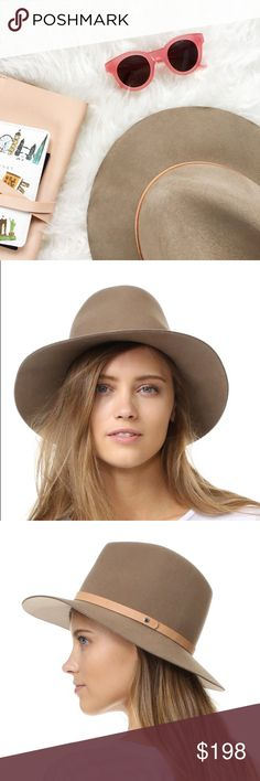 Rag & Bone Floppy Brim Fedora A charming felt Rag & Bone hat with a cool, menswear-inspired feel. A brass stud punctuates the slim leather band, and the slightly uneven brim adds a classic finish.  Fabric: 100% wool. Spot clean. Made in the USA.  Measurements Brim: 3in / 7.5cm Crown: 4.5in / 11.5cm rag & bone Accessories Hats