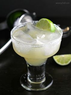 The Best Authentic Margaritas - No Mexican meal is complete without this sweet and sour cocktail made from scratch (no margarita mix)!