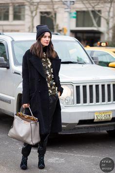 Leila Yavari Street Style Street Fashion Streetsnaps by STYLEDUMONDE Street Style Fashion Photography