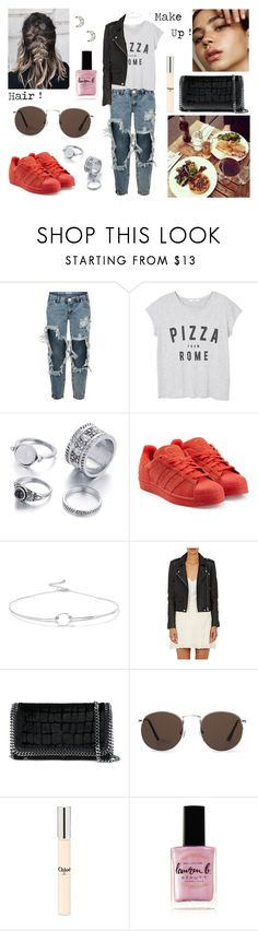 """14/09/17"" by milena-serranista ❤ liked on Polyvore featuring OneTeaspoon, MANGO, adidas Originals, Noir Jewelry, IRO, STELLA McCARTNEY, Ultimate, Chloé, Lauren B. Beauty and Forever 21"