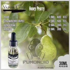 Vapor Chef (Honey Pearry) - сладость абрикоса и дыни, в сочетании с терпкостью груши и привкусом клубники