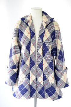 Vintage Plaid Swing Coat
