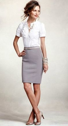 Women's Business Fashion Trend - I need to wear more skirts to work -__-