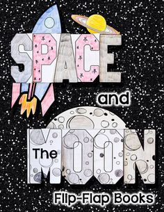 """Your students will have a """"BLAST"""" while they apply what they have learned about the Moon and Space in these Fun and Interactive Flip-Flap Books!$"""