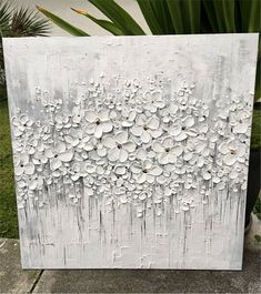 Oil painting for dreamers, this subtle taste art piece could be incorporated in any room decor. This modern wall art will make your room look stylish . Art Floral, Plaster Art, Modern Wall Art, Modern Room, Texture Painting, Painting Inspiration, Diy Art, Art Pictures, Flower Art