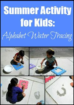 Summer Activity for Kids: Alphabet Water Tracing via Crafts-N-Things for children
