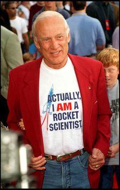 Buzz Aldrin! Go, Buzz! Posting today as the NASA shuttle program comes to a close.