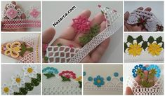 KENAR DANTEL ÖRNEĞİ SADE VE ŞIK ÖMÜR TÜKETEN MODELİ   Nazarca.com Crochet Projects, Floral, Flowers, Bedspreads, Royal Icing Flowers, Flower, Flower, Florals, Blossoms
