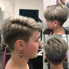 40 Best Short Hairstyle Ideas 2019 – The Most Beautiful Ideas - C. - 40 Best Short Hairstyle Ideas 2019 – The Most Beautiful Ideas 40 Best Short Hairstyle Ideas 2019 - The Most Beautiful Ideas Super Short Hair, Short Grey Hair, Short Blonde, Blonde Hair, Short Hair Pixie Edgy, Short Pixie Cuts, Short Bobs, Trendy Hair, Haircut For Older Women