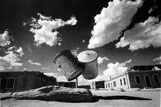 奈良原一高 Ikko Narahara  〈消滅した時間〉より「アメリカ・インディアン村の二つのゴミ缶」
