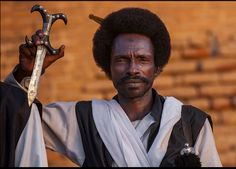 Beja warrior of Sudan....Beja people are known to be warriors since the pharaohs era both in egypt and sudan. Many paintings on the pyramid walls depict them.