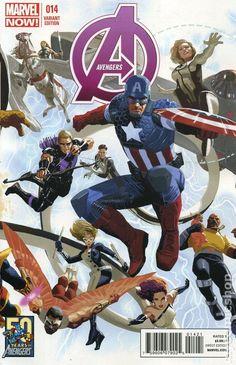 Avengers (2012 5th Series) 14B Marvel Comics Modern Age Comic book covers Captain America Falcon Luke Cage