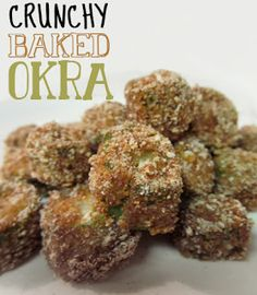 Recipes From Newlyweds: Crunchy Baked Okra - from Melissa