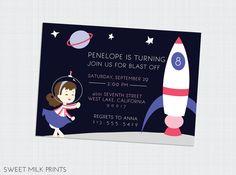 astronaut party invitations - HD1499×1112