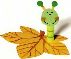 Housenka na listě Spring Crafts For Kids, Autumn Crafts, Art For Kids, Bug Crafts, Diy And Crafts, Arts And Crafts, Autumn Activities, Activities For Kids, Toilet Paper Roll Crafts