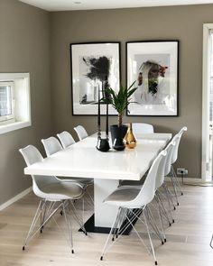 10 hjem malt i Jotun Modern Beige 12076 Beige Dining Room, Diy Bedroom Decor, Home Decor, Dining Table, Living Room, Interior, House, Inspiration, Furniture