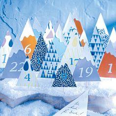Adventskalender basteln -  die schönsten Ideen - waldkalender-2  Rezept