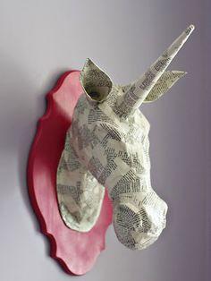 Detodomanualidades: Unicornio de papel maché