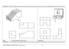 isometric drawing exercises with answers google search drawing isometric in 2018 pinterest. Black Bedroom Furniture Sets. Home Design Ideas